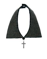 ASOS - Black Beaded Collar Cross Necklace - Lyst