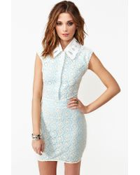 lyst  nasty gal daisy sky lace dress in white