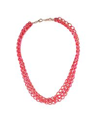 TOPSHOP | Orange City Lights Multirow Necklace | Lyst