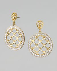 John Hardy - Metallic Pave Sapphire Naga Drop Earrings - Lyst