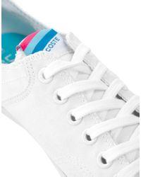 Lacoste - White Plimsolls - Lyst