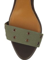 Ralph Lauren Collection | Brown Jesalin Canvas Sandals | Lyst
