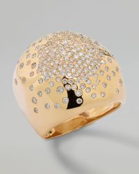 Ippolita - Metallic Stardust Gold Radiating-diamond Dome Ring - Lyst