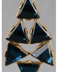 Oscar de la Renta   Metallic 24karat Gold Plated Swarovski Crystal Clip Earrings   Lyst