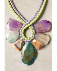 Anthropologie - Green Seven Stones Necklace - Lyst