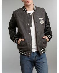 DIESEL - Black Baseball Jacket for Men - Lyst