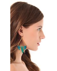 Gemma Redux - Metallic Turquoise Bar Earrings - Lyst
