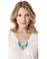 Gemma Redux - Metallic Turquoise Refined Bib Necklace - Lyst