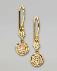 Ippolita - Metallic Stardust Flower Small Diamond Drop Earrings - Lyst