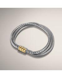 John Hardy - Metallic Three Row Bracelet - Lyst