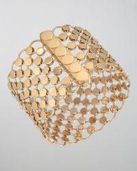John Hardy | Metallic 18k Gold Dot Wide Link Bracelet | Lyst