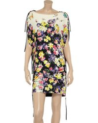 Vionnet - Yellow Printed Crepe Dress - Lyst