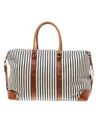 ASOS Collection | Black Asos Ticking Stripe Holdall | Lyst
