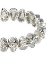 ASOS - Metallic Skull Stretch Bracelet - Lyst
