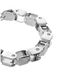 ASOS - Metallic Bike Chain Bracelet - Lyst
