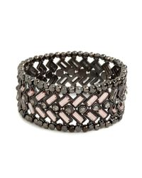 BaubleBar - Metallic Rose Chevron Bead Cuff - Lyst