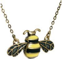 Cath Kidston - Yellow Bumble Bee Enamel Tiny Pendant - Lyst