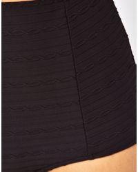 Freya | Black Showboat High Waisted Bikini Bottom | Lyst