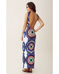 Mara Hoffman | Blue Backless Column Dress | Lyst