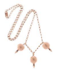 Mawi - Metallic 18 karat Rose Gold-plated Pendant Necklace - Lyst