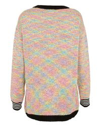 TOPSHOP - Multicolor Knitted Aztec Rainbow Jumper - Lyst