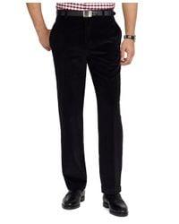 Brooks Brothers Black Hudson 8wale Corduroy Pants for men