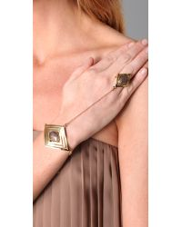 House of Harlow 1960 - Metallic Double Diamond Hand Bracelet - Lyst