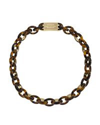 Michael Kors | Brown Short Link Necklace Tortoise | Lyst