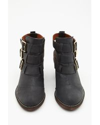 Nasty Gal Black Ackley Buckle Boot
