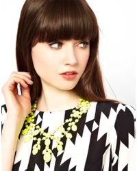 ASOS - Yellow Premium Jewelled Bib Necklace - Lyst