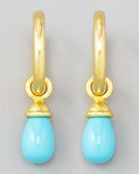Elizabeth Locke | Blue Turquoise Earring Pendants | Lyst