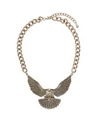 TOPSHOP - Metallic Chunky Eagle Necklace - Lyst