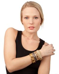 BaubleBar - Metallic Gold Criss Bangle - Lyst
