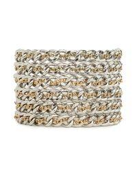BaubleBar | Metallic Silver Hybrid Link Cuff | Lyst
