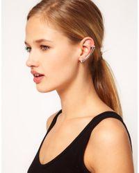 Cheap Monday - Metallic Foretell Earrings - Lyst