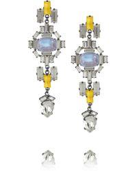 Erickson Beamon - Yellow Swarovski Crystal Drop Earrings - Lyst