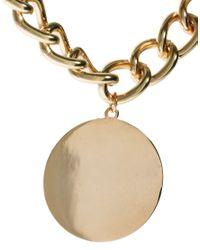 ASOS - Metallic Medallion Pendant Necklace - Lyst