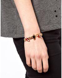 ASOS - Metallic Stone Bracelet - Lyst
