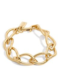 COACH | Metallic Leaf Chain Bracelet | Lyst