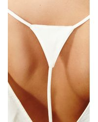 Nasty Gal - White Callista Cutout Top - Lyst