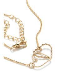 ModCloth | Metallic I Link Its Love Necklace | Lyst