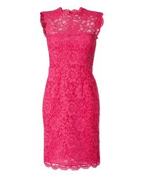 Valentino | Hot Pink Lace Dress | Lyst