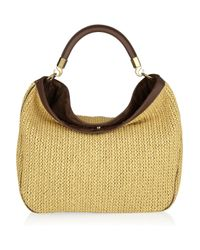 Saint Laurent | Natural Roady Woven Straw and Leather Hobo Bag | Lyst
