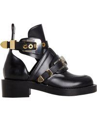 Balenciaga | Black Buckle Ankle Boot | Lyst