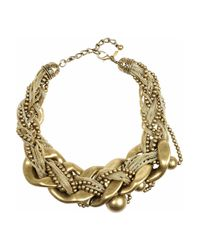 Kenneth Jay Lane - Metallic Snake-print Nugget Necklace - Lyst