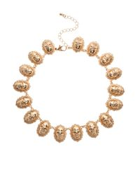ASOS | Metallic Skull Linked Necklace | Lyst