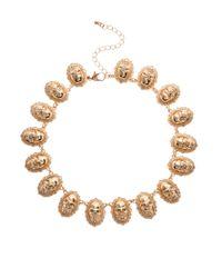 ASOS - Metallic Skull Linked Necklace - Lyst