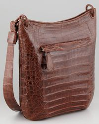 Nancy Gonzalez | Brown Crocodile Messenger Bag | Lyst