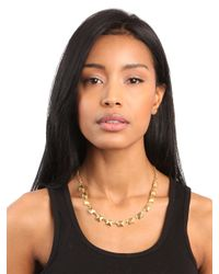 BaubleBar | Metallic Gold Pyramid Necklace | Lyst