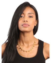 BaubleBar - Metallic Silver Cone Necklace - Lyst